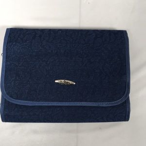 PreZerve Denim Colored Jewelry Travel Case Holder